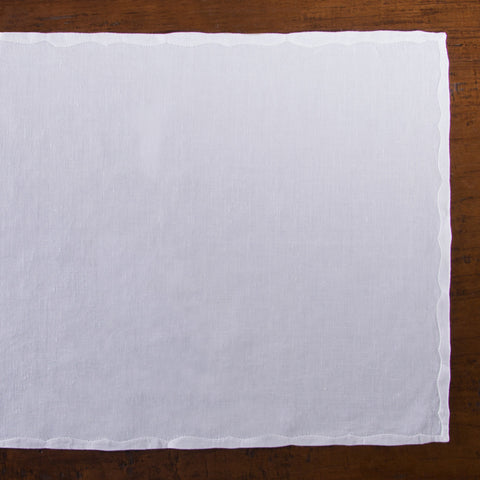 Franc&ecirc;s Estate<br>Placemat - White Linen