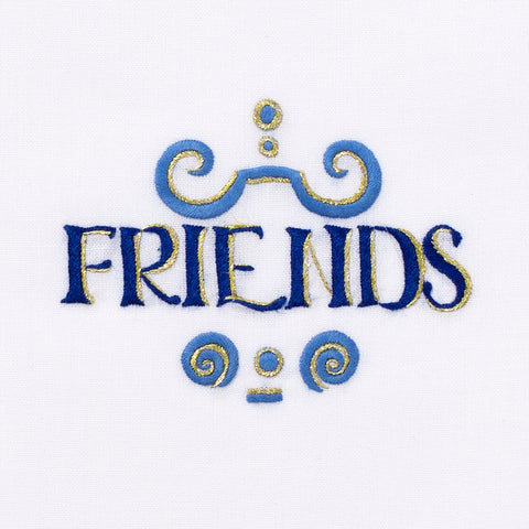 Friends<br>Hand Towel - White Cotton
