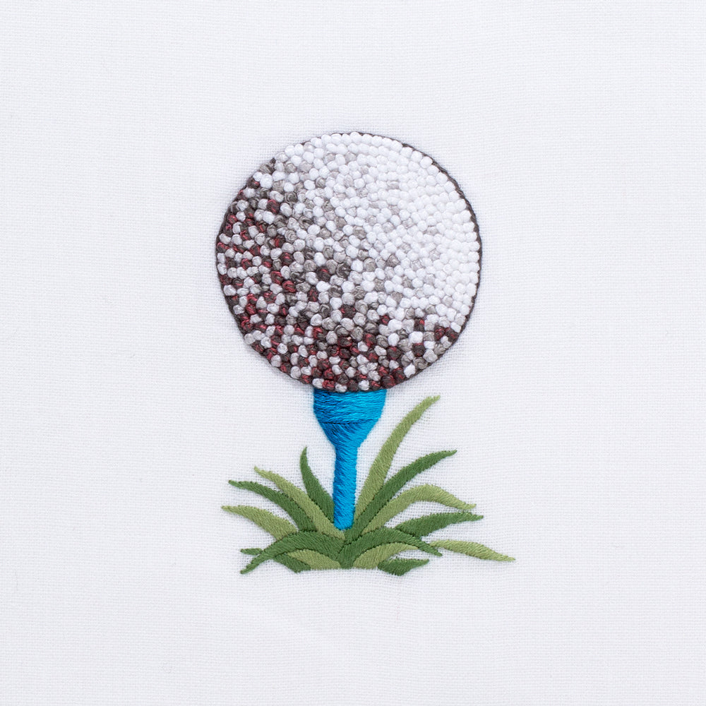 Golf Ball<br>Hand Towel - White Cotton