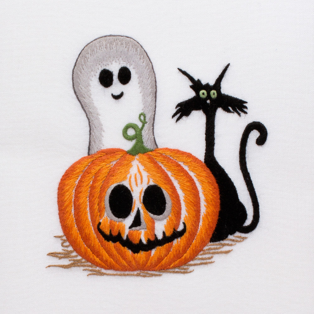 Halloween Friends<br>Hand Towel - White Cotton