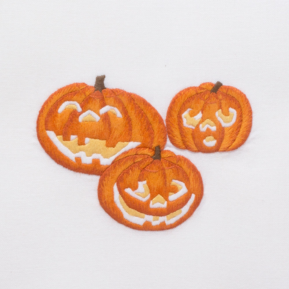Jack-O-Lanterns<br>Hand Towel - White Cotton