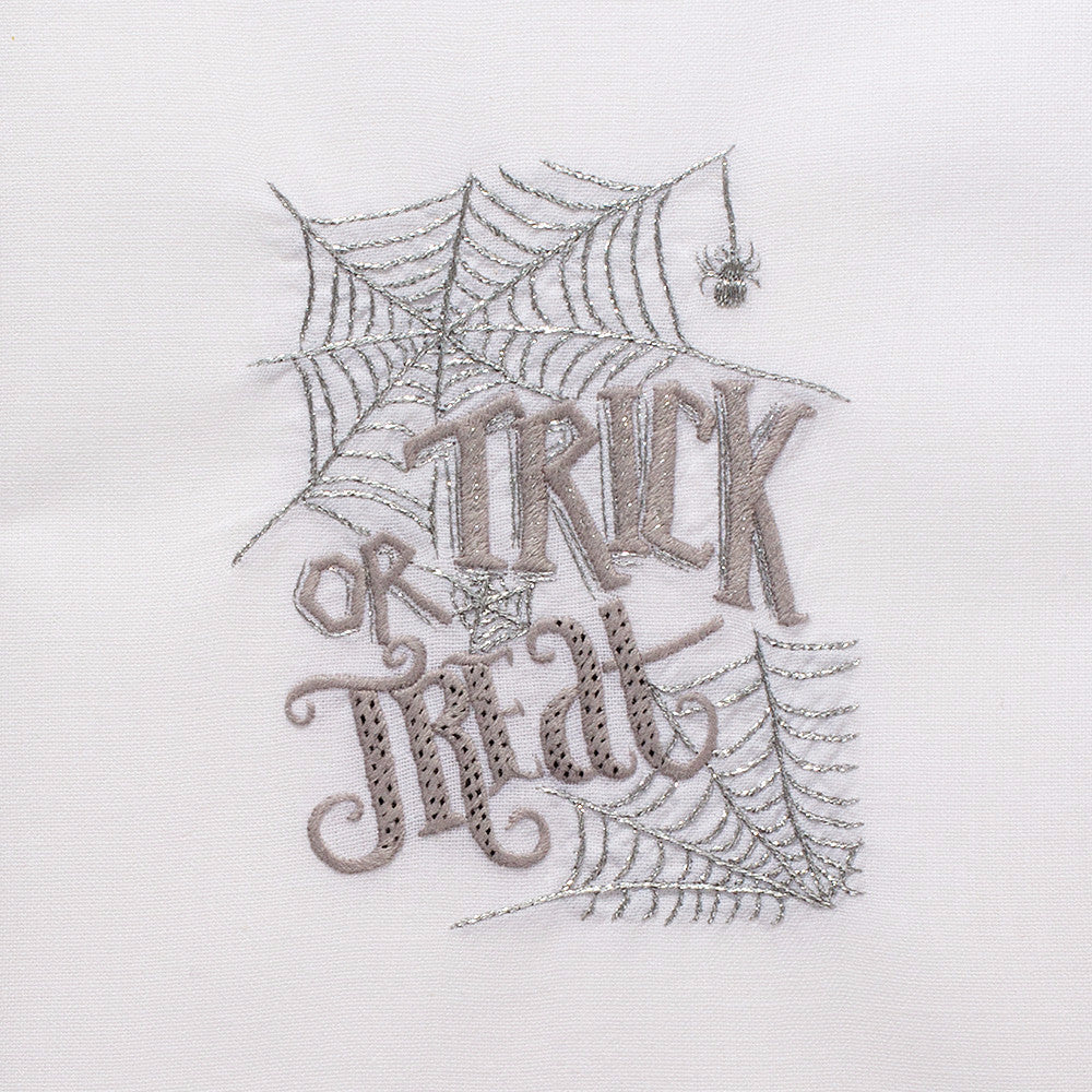 Trick or Treat<br>Hand Towel - White Cotton