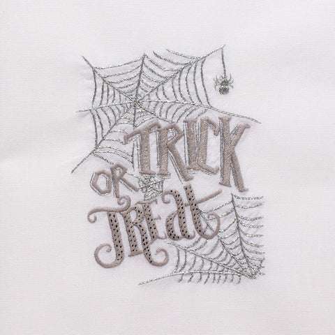 Trick or Treat<br>Hand Towel - White Cotton<br>37 In Stock