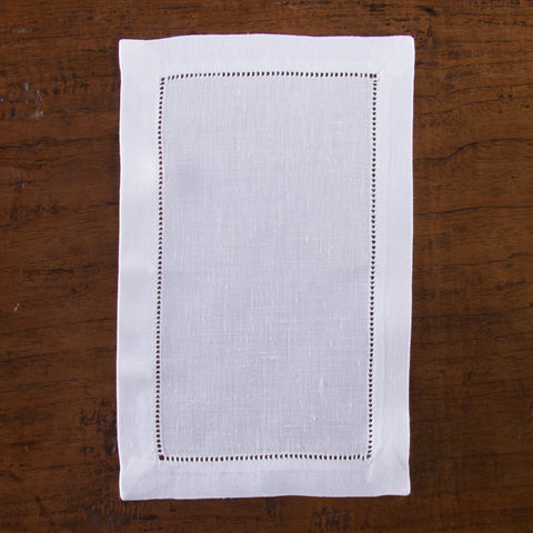 Heirloom Estate<br>Cocktail Napkin - White Linen