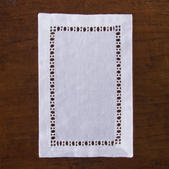Henry Estate<br>Cocktail Napkin - White Linen