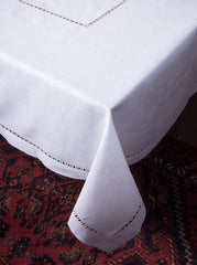 Henry Estate<br>Tablecloth - White Linen