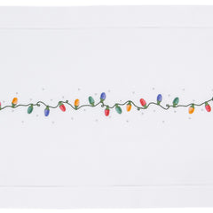 Holiday Lights<br>Table Runner - White Cotton