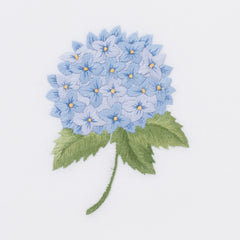 Hydrangea Blue<br>Hand Towel - White Cotton