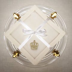 Crown Gold<br>Cocktail Set - Ivory Cotton