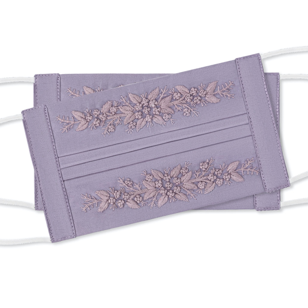 Jardin Face Masks<br>Set of 2<br>Lavender on Lavender