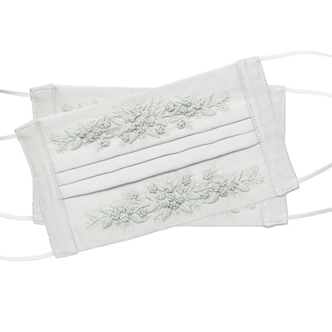 Jardin Face Masks<br>Set of 2<br>Light Gray on Light Gray