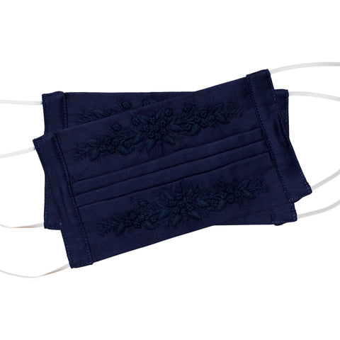 Jardin Face Masks<br>Set of 2<br>Navy on Navy