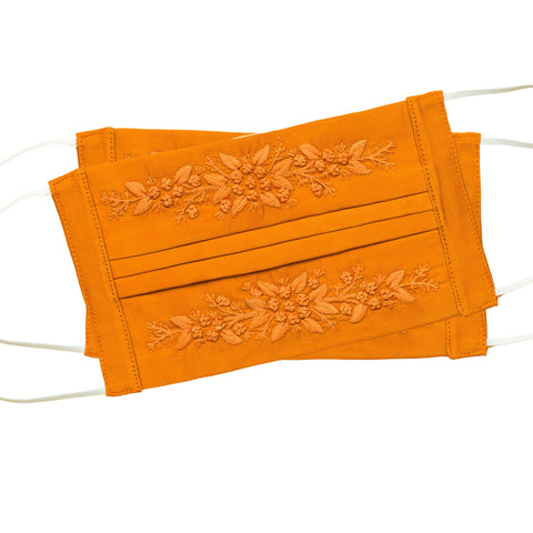 Jardin Face Masks<br>Set of 2<br>Orange on Orange