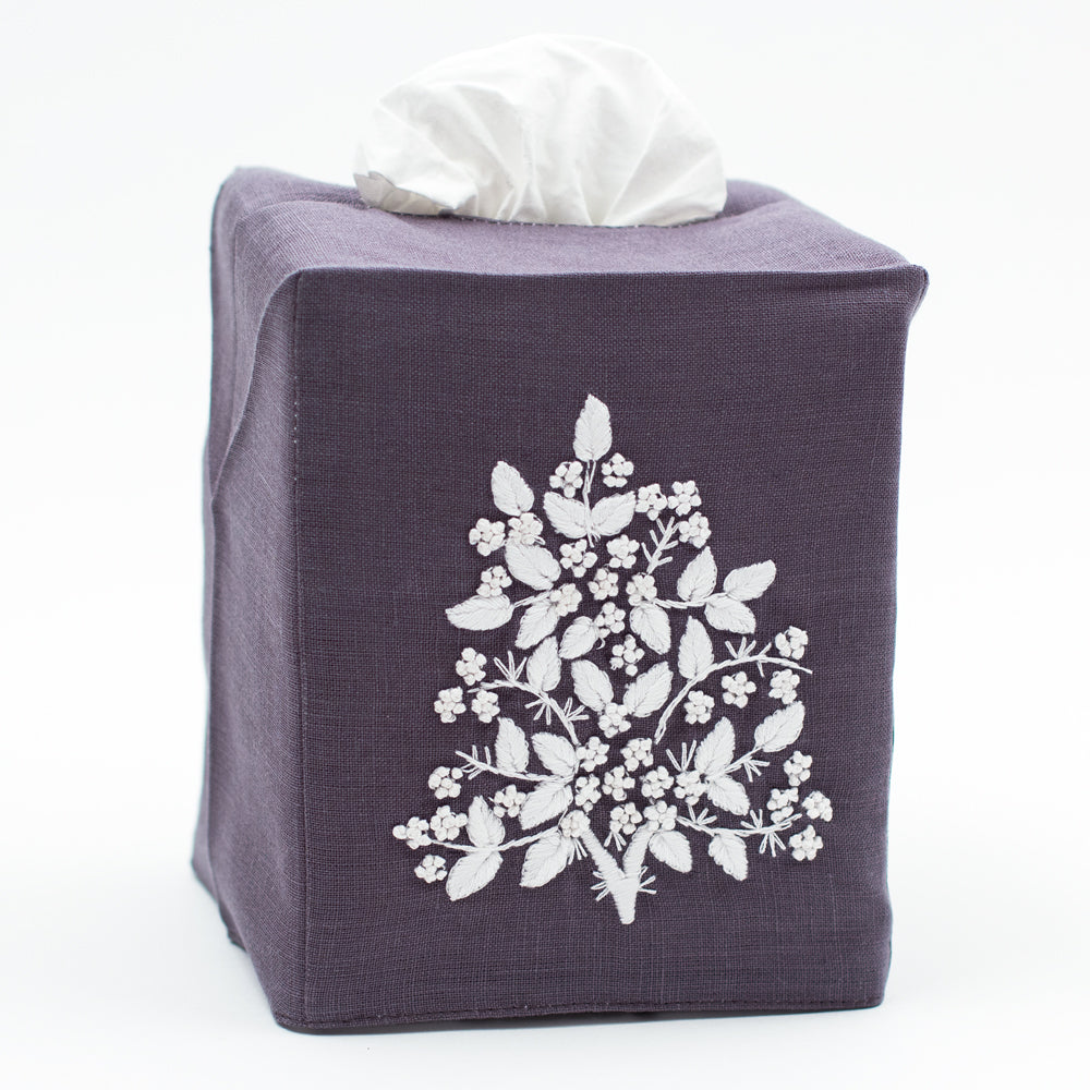 Jardin<br>Tissue Box Cover<br> Italian Linen in 6 Colors