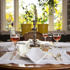 Jardin Estate<br>Placemat - White Linen
