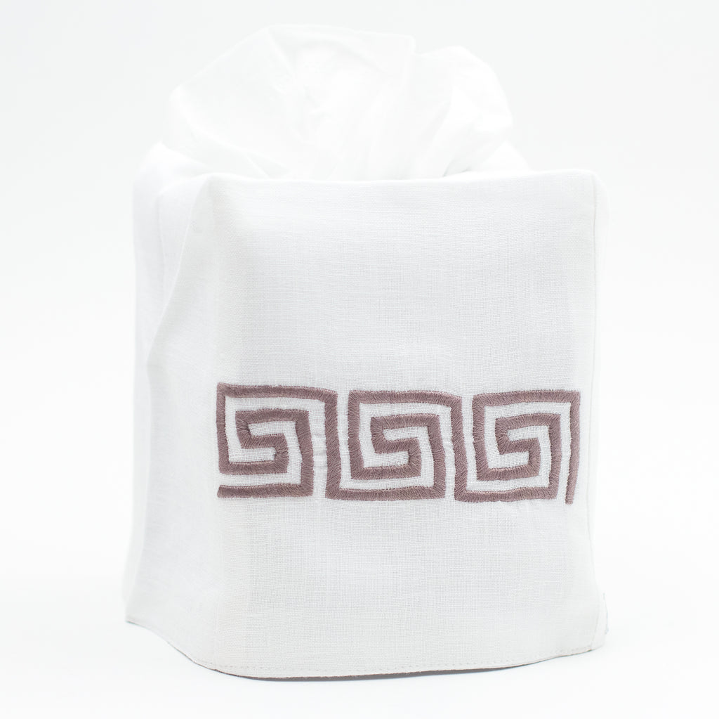 Greenwich Key<br>Tissue Box Cover - Italian Linen<br>8 Colors