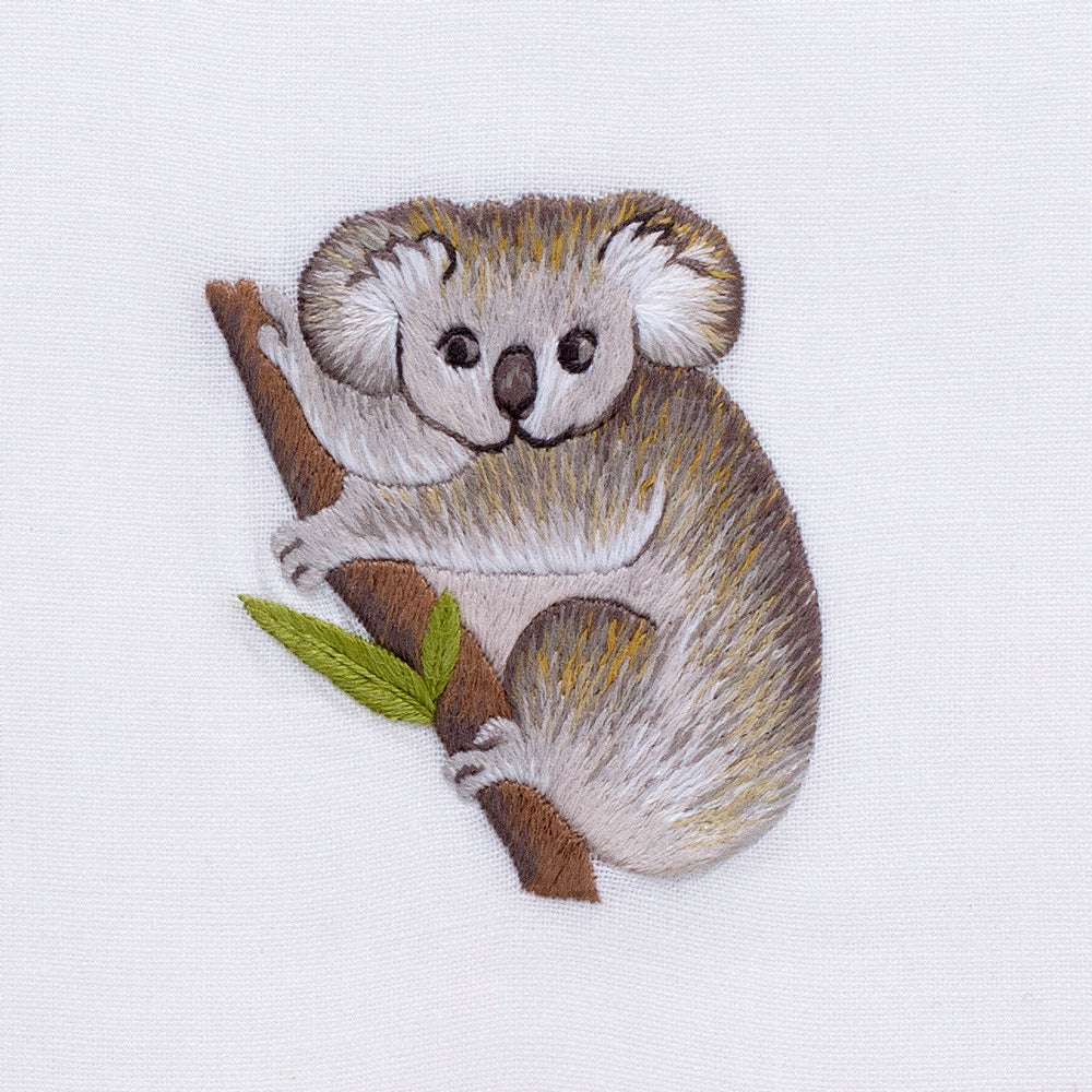 Koala<br>Hand Towel - White Cotton