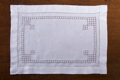 Lattice Estate<br>Placemat - White Linen