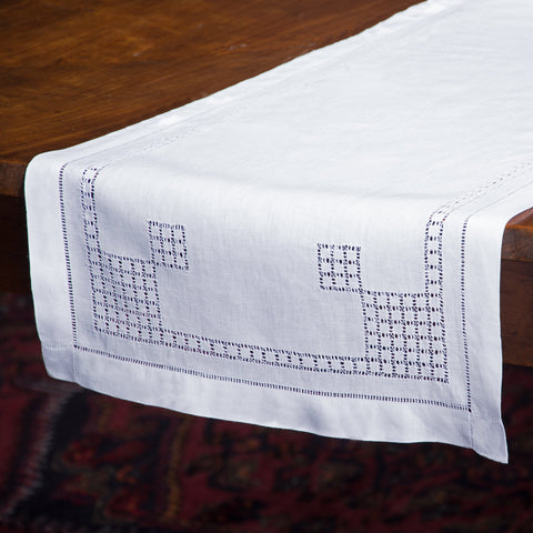 Lattice Estate<br>Runner - White Linen