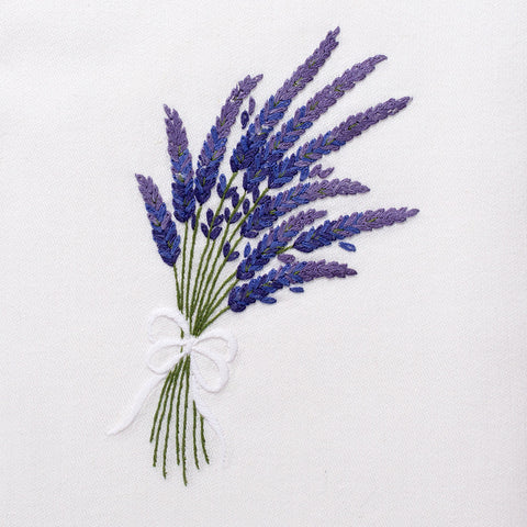 Lavender<br>Everyday Towel - White Cotton