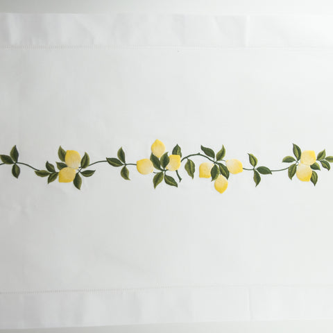 Lemons<br>Table Runner - White Cotton