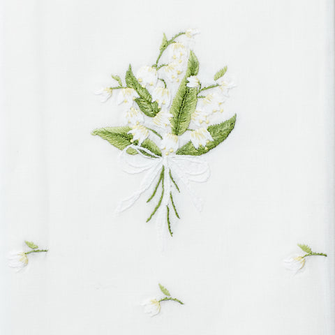 Lily of the Valley<br>Hand Towel - White Cotton