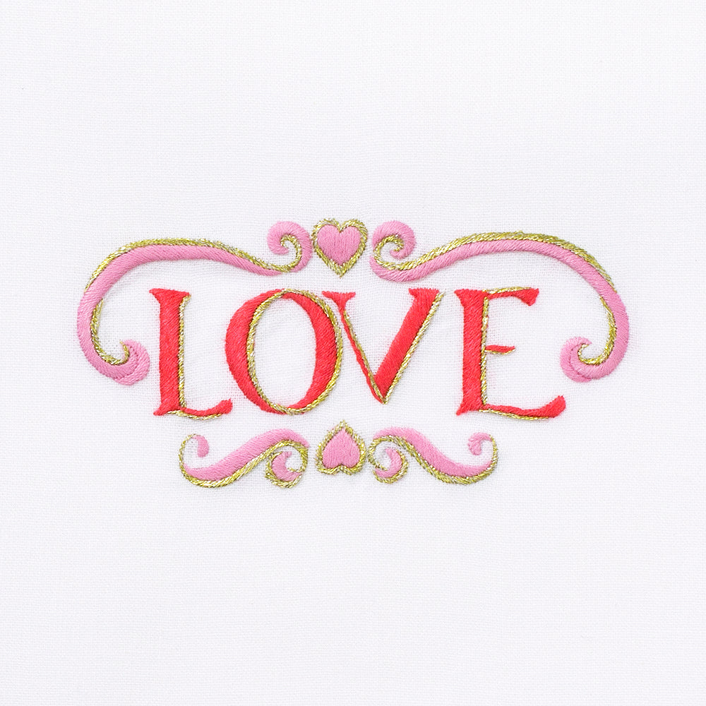 Love<br>Hand Towel - White Cotton