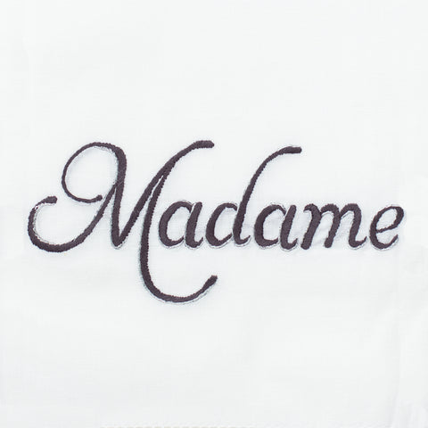Madame Silver<br>Hand Towel - White Cotton
