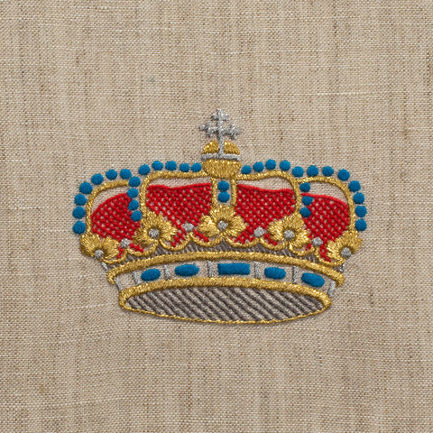 Medieval Crown<br>Hand Towel - Fleck Linen<br>50+ In Stock