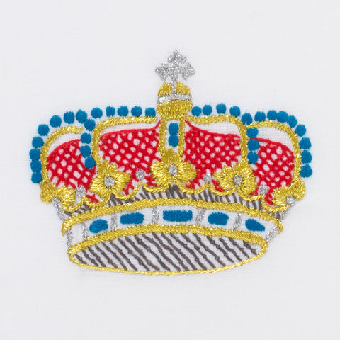 Medieval Crown<br>Hand Towel - White Cotton