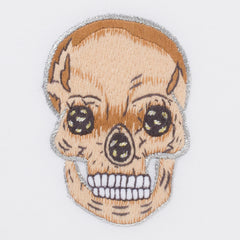 Medieval Skull<br>Hand Towel - White Cotton