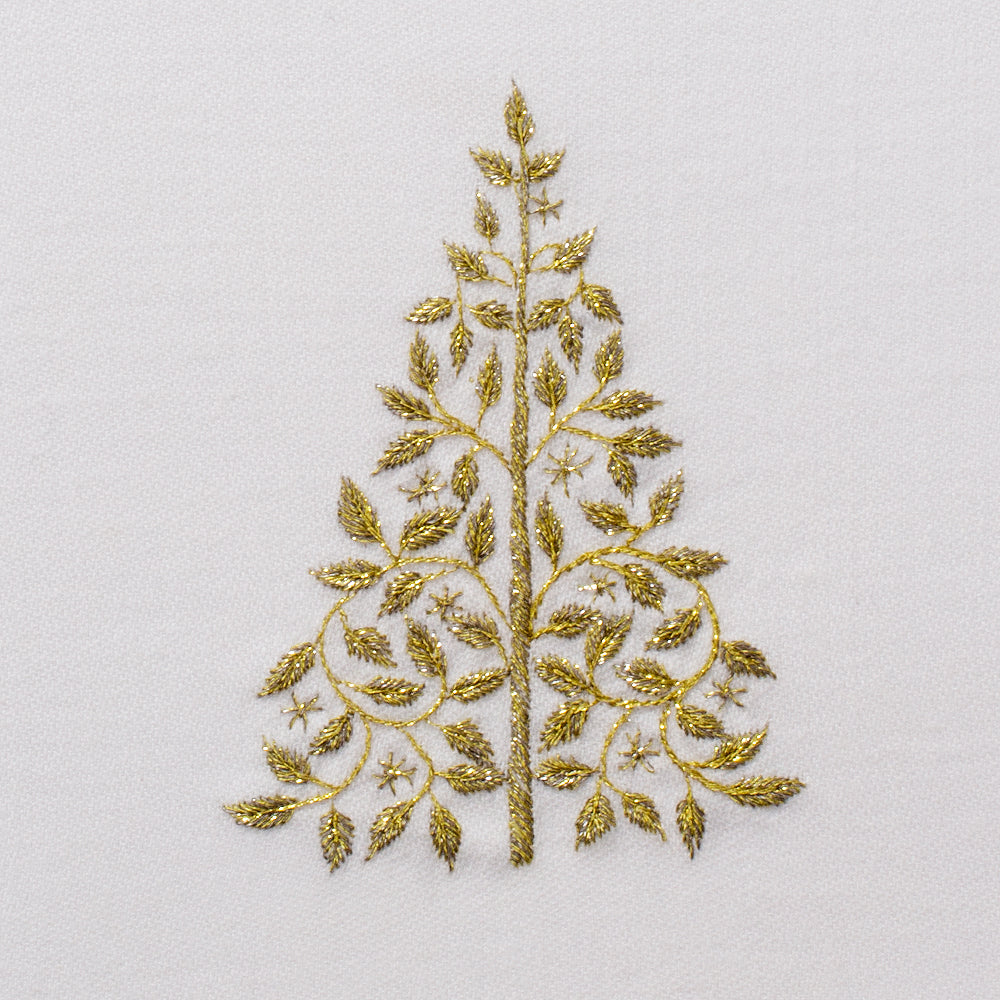 Mod Tree Glitter<br>Kitchen Towel - White Cotton