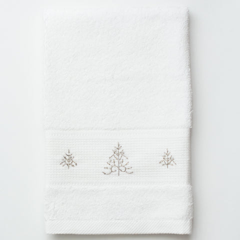 Mod Tree Silver<br>Terry Guest Towel