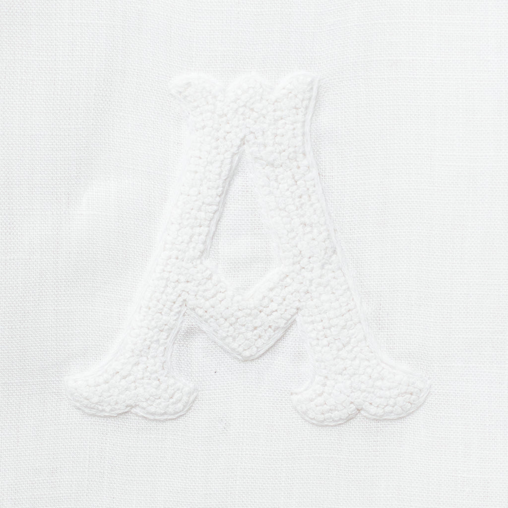 Monogram Nouveau<br>Hand Towel - White on White Linen
