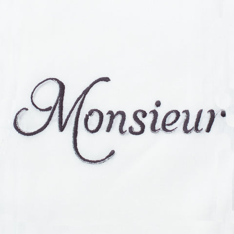 Monsieur Silver<br>Hand Towel - White Cotton