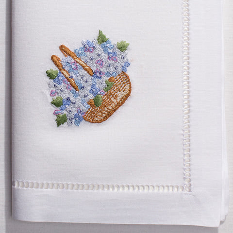 Nantucket Basket<br>Napkin - White Cotton