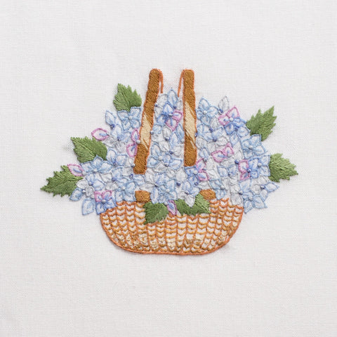 Nantucket Basket<br>Hand Towel - White Cotton