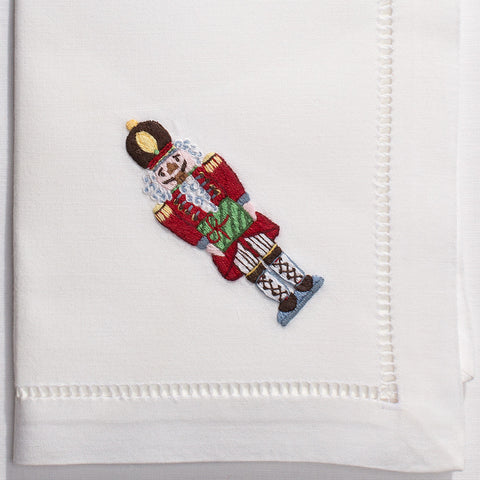 Nutcracker<br>Napkin - White Cotton
