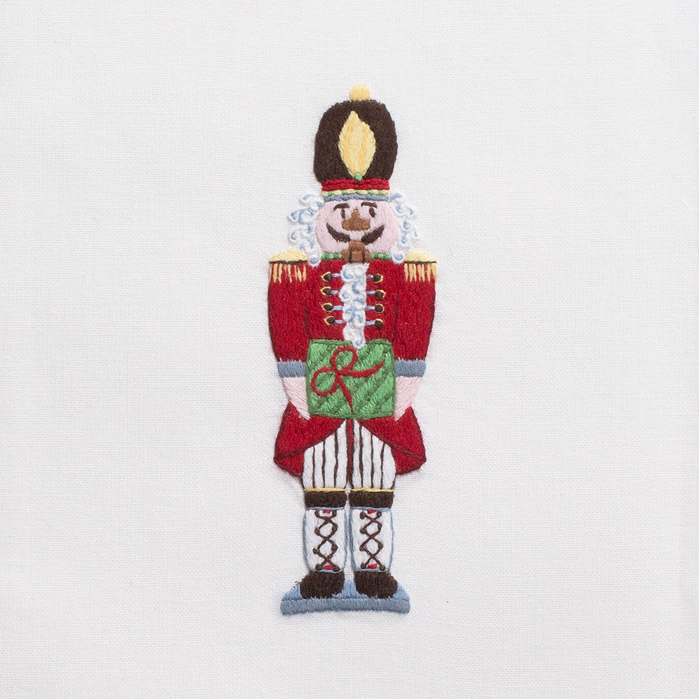 Nutcracker<br>Hand Towel - White Cotton