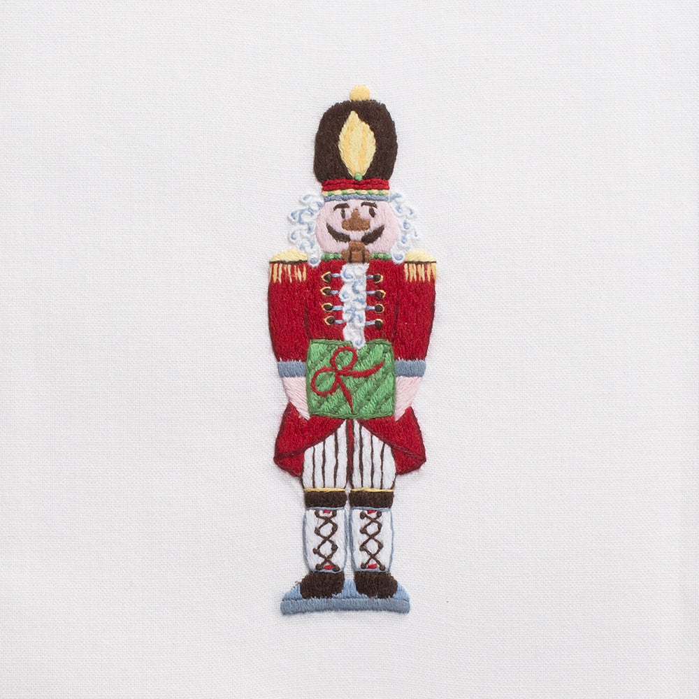 Nutcracker<br>Kitchen Towel - White Cotton