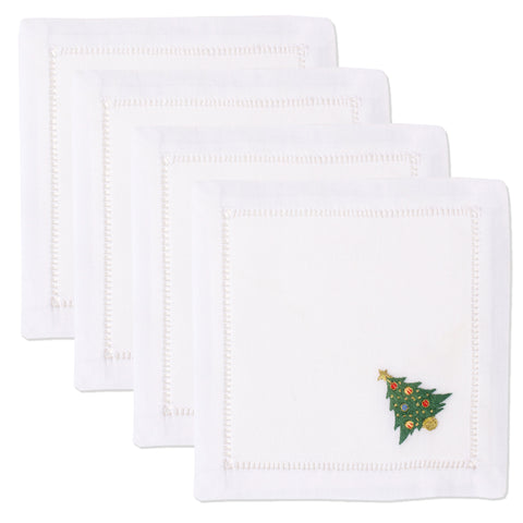 Ornament Tree<br>Cocktail Set - White Cotton