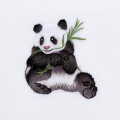 Panda<br>Hand Towel - White Cotton