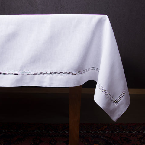 Panier Estate<br>Tablecloth - White Linen