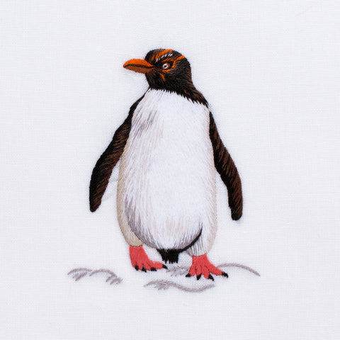 Penguin<br>Hand Towel - White Cotton