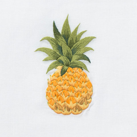 Pineapple Modern<br>Hand Towel - White Cotton