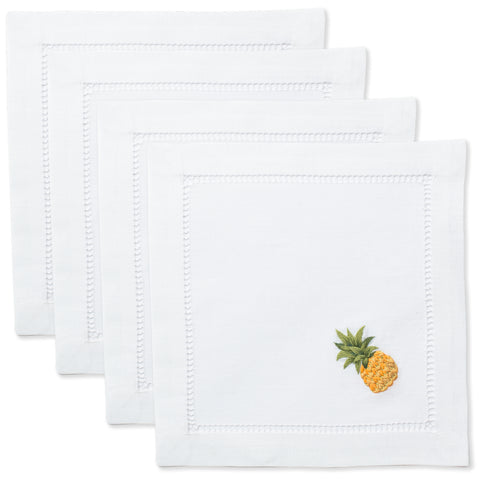 Pineapple Modern<br>Cocktail Set - White Cotton