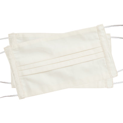Italian Cotton Face Masks<br>Set of 2<br>Ivory