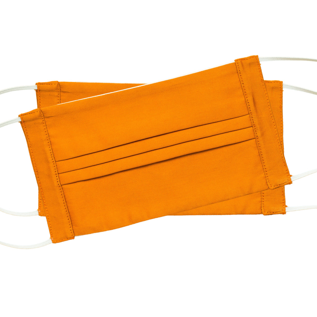 Italian Cotton Face Masks<br>Set of 2<br>Orange