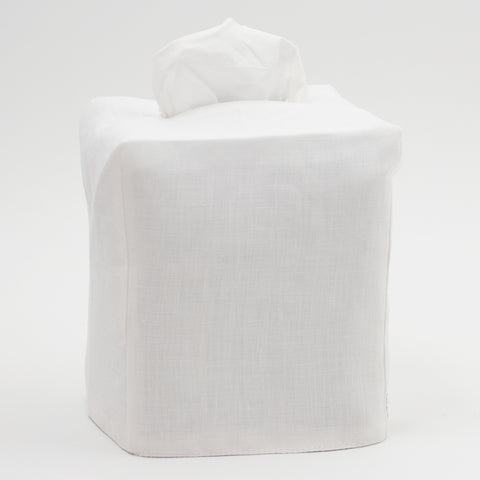 Heirloom<br>Tissue Box Cover<br> Italian Linen in 7 Colors