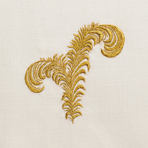 Plume Gold<br>Hand Towel - Ivory Linen<br> 45 In Stock